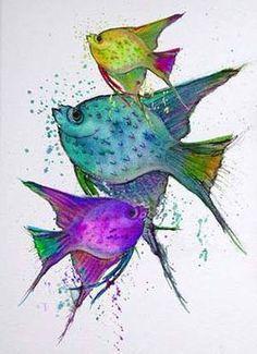 Valda Fitzpatrick Three Fish absolutearts.com
