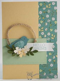 The Crafty Owl's Blog | Joanne James - SU - 2-step bird punch, All Abloom, Itty Bitty Accents Punch Pack, Crazy About You
