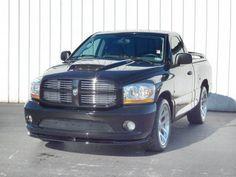 2006 Dodge Ram 1500 Regular Cab SRT-10 Pickup Viper only 87 Black Regular Cab SRT-10's were built in 2006. The 8.3 Liter V10 pounds out over 500 Horsepower. #srt10 #srtviper