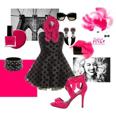 tickled pink, created by angela-burke on Polyvore