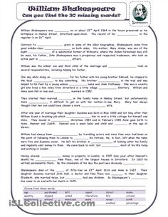 shakespeare worksheets - Yahoo Image Search Results