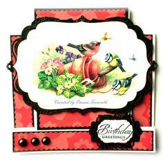 Spring stepper card, LOTV bird image, spellbinders labels4