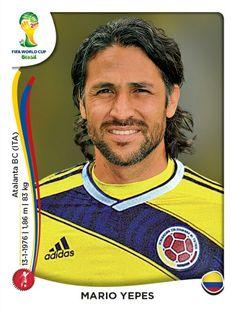 187 Mario Yepes @PaniniCol @FigurinePanini - Colombia - MUNDIAL BRASIL 2014