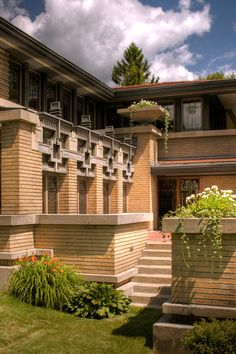 Meyer May House, Grand Rapids Michigan, Frank Lloyd Wright 1909.  Mr. May was 5 feet tall, the house is scaled to his height, it feels warm and cozy.  Fully restored by Steelcase Corp. a true jewel.