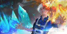 #MyHeroAcademia #Dessin 9baMelo #ShoutoTodoroki #Anime #Manga