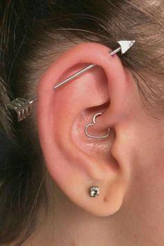 Daith Piercing, Piercing Tattoo, Piercing Face, Body Piercings, Bellybutton Piercings, Ear Piercings Rook, Female Piercings, Monroe Piercings, Nose Piercing Jewelry