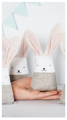 Blush coral bunny #rabbit, linen stuffed baby #toy, gift for new #mom, 3baby shower basket, baby #nursery decor, crib toys, pastel toys, jumata
