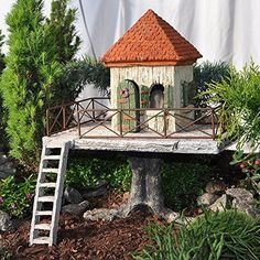 Mini Miniature Fairy Garden Fairy Resort House Garden Bridges