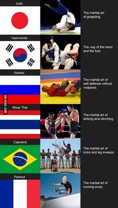 Martial arts around the world