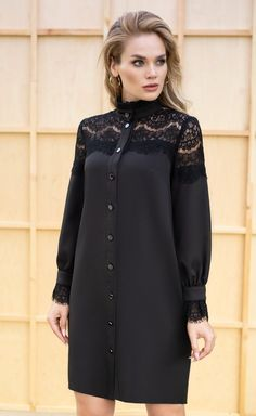 Luxurious black dress with lace – – мода Abaya Fashion, Modest Fashion, Fashion Dresses, Iranian Women Fashion, Short Women Fashion, Looks Black, Designs For Dresses, Mode Style, African Dress