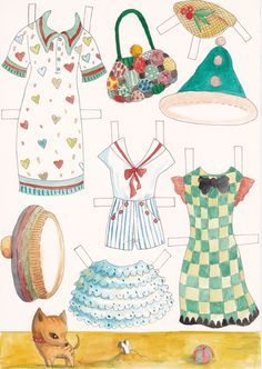molly dolly paper doll clothes