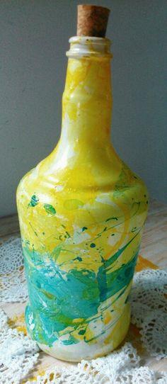 Bottle swirl garrafa decorada
