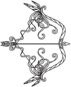 Bow and Arrow Tattoo Art, - Tattoo Designs Men Bow Tattoo Designs, Arrow Tattoo Design, Arrow Design, Tattoo Heaven, Kunst Tattoos, Tattoo Hals, Piercing Tattoo, Piercings, Bow Arrows