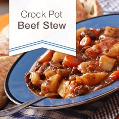 Crockpot Beef Stew - All the great flavor with very little effort! I loved this recipe. The paprika adds a nice spicy note and it just warms you right up! I served mine over mashed potatoes with a roll for mopping up the plate when you are done!