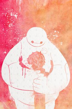 Disney Big Hero 6 Baymax abrazos Hiro por PenelopeLovePrints