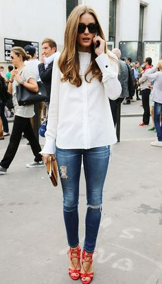How WHITE SHIRT plus JEANS equals a timeless look that is great for any age and size:  http://www.clubfashionista.com/2014/05/simplicity-jeans-and-white-shirt.html  #clubfashionista #fashion #jeans #whiteshirt