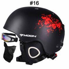 MOON CE Certification Safety Ski Helmet Integrally-molded Skating/Skateboard/Snowboard Helmet Size 52-64 CM