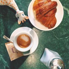 Espresso & Croissant - we're back in Italy! #BreakfastWithSophie