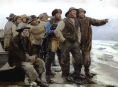 Will he round the point ? by Michael Ancher (c.1879)