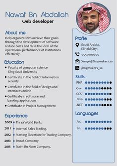 contest entry for i need to buy 10 infographic cv template in arabic languages 4 in english