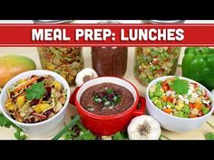 Meal Prep: Healthy Lunch Back To School Ideas! Soup, Salad, & Sides! - Mind Over Munch