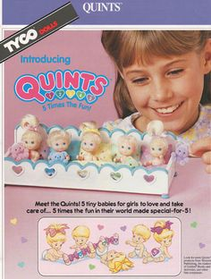 Quints | I totally played with these as a child. Omg loved them so much I still I have the house and everything!!!