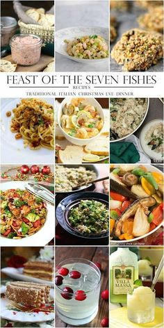 Feast of the Seven Fishes Italian Christmas Eve dinner menu and recipes Seafood Stew, Seafood Salad, Shrimp Salad, Fish Dinner, Seafood Dinner, Seafood Party, Sin Gluten, Gluten Free, Christmas Eve Dinner Menu