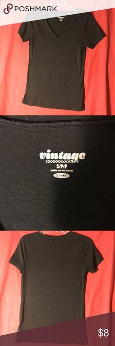 Old Navy vintage shirt sleeve tee Soft black shirt sleeve tee from Old Navy  💵💵 👯Bundle👯 tops to save 💵💵 Old Navy Tops Tees - Short Sleeve