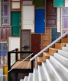 Creative DIY Idea for Foyer Wall