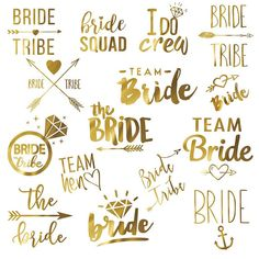 Bachelorette Party Hen's night temporary tattoos. Team