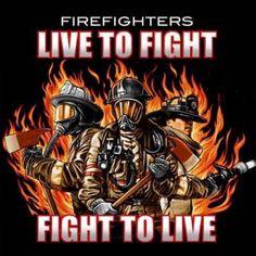 Live to Fight, Fire T-shirt | Firefighter Cheap Tshirts | Firefighter.com