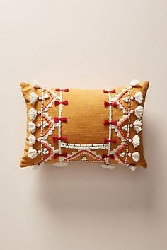 Anthropologie Vineet Bahl Accent Pillow, Size One Size – Orange – accent pillow living room Designer Pillow, Pillow Design, Broderie Simple, Anthropologie Home, Boho Home, Pillow Texture, Red Accents, My New Room, Boho Pillows
