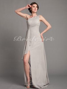 1930f1bd61d Sheath Column Chiffon Floor-length One Shoulder Mother of the Bride Dress -   112.99