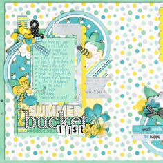 Summer Bucket List Credits: What's Up, Buttercup? by Heather Roselli Template from Set 125 by Cindy Schneider Alpha Scraps White by Shawna Clingerman Scrappy Alpha by Zoe Pearn  digital scrapbooking, layout, summer, bee, hobby  This layout was created for the Sweet Shoppe Summer Shadowbox contest - come join the digital scrapbooking fun at SweetShoppeDesigns.com!