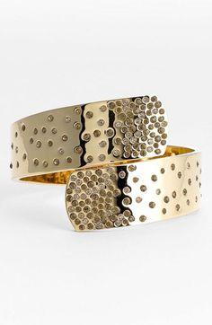 pave crystal wrap bangle / st. john collection