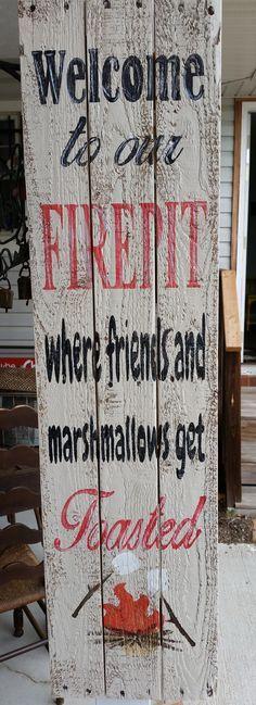 Firepit Sign