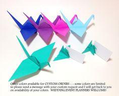 Baby Nursery Origami Origami Wall Cranes by FlyingCraneOrigami