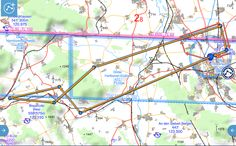 Mit der Aquila A210 meine 17. Flugstunde geflogen. Es ging Richtung Westen - kurz vor Hameln und dann wieder zurück zum Flugplatz Hildesheim Piste 25.