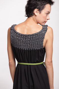 a-line dress with a knitted twist