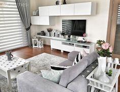 Çiçeklik, Ikea, Modern stil, Salon, Tv ünitesi