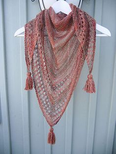 I love eyelets and simple designs! This shawl is very wearable and also very easy to knit!