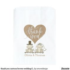 thank you cartoon pink and gold wedding frogs Pink And Gold Wedding, Green Wedding, Wedding Favor Bags, Frogs, Cartoon, Cartoons