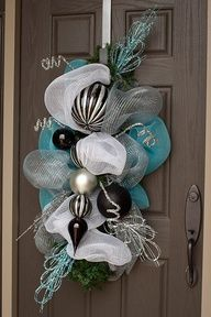 "Deco Mesh Wreath Alternative; floral picks and bulb ornaments"" data-componentType=""MODAL_PIN"