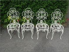 Wrought Iron Patio Furniture Vintage - Garden and Park : Home . Wrought Iron Outdoor Furniture, Vintage Outdoor Furniture, Vintage Patio, Lawn Furniture, Shabby Chic, Antiques, Holiday Decor, Benches, Design Ideas