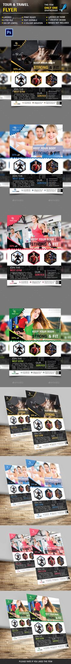 Fitness & Gym Flyer vol 3 — Photoshop PSD #exercise #workout • Available here → https://graphicriver.net/item/fitness-gym-flyer-vol-3/14382656?ref=pxcr