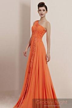 輝くSUNSUNオレンジ!! 周りを照らす高級ロングドレス♪ - ロングドレス・パーティードレスはGN|演奏会や結婚式に大活躍!