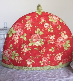Tea Pot Cozy Tea Pot Quilt Handmade Quilt Red Roses