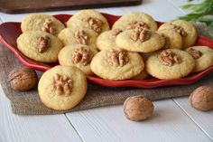 Christmas Biscuits, Biscotti Cookies, Cookie Recipes, Muffin, Food And Drink, Pasta, Vegetables, Cooking, Breakfast
