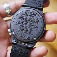 Romantic gifts for him - Watch For Men Great Gift For Men Engraving Wooden Watch Perfect Gift For Husband – Romantic gifts for him Ldr Gifts For Him, Thoughtful Gifts For Him, Romantic Gifts For Him, Gifts For Fiance, Great Gifts For Men, Love Gifts, Gifts For Family, Anniversary Gifts For Husband, Best Gift For Husband