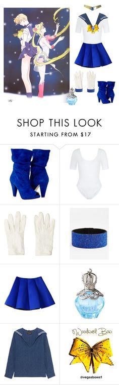 """Haruka Tenoh: SAILOR URANUS"" by vveave-silk ❤ liked on Polyvore featuring New Look, Hermès, Natasha Couture and The Seafarer"